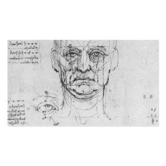 Leonardo Vinci: Estudio en las proporciones de cab Tarjeta De Visita