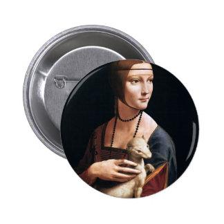 Leonardo Vinci- la señora con el armiño Pin