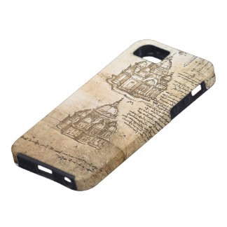 Leonardo Vinci- Studies of central plan buildings iPhone 5 Case