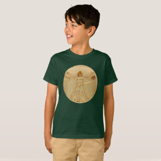Leonardo Vitruvian Man As Baseball Player T-Shirt