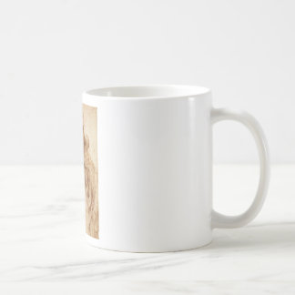 Leonardo Woman Head Coffee Mug