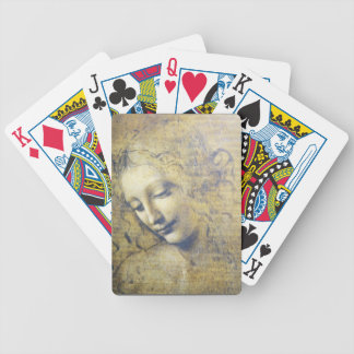 Leonardo young woman sketch playing cards