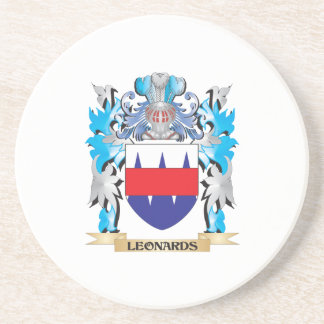 Leonards Coat of Arms - Family Crest Coaster