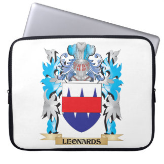 Leonards Coat of Arms - Family Crest Laptop Sleeves