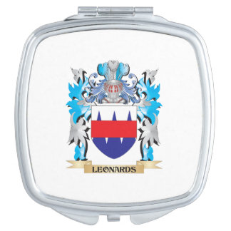Leonards Coat of Arms - Family Crest Makeup Mirror