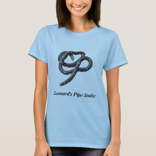 Leonard's Pipe Snake Ladies Baby Doll T-Shirt