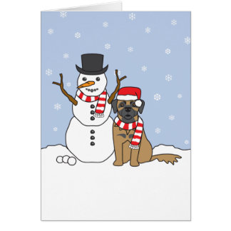 Leonberger and Snowman Cards