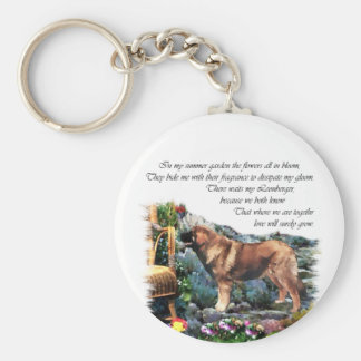 Leonberger Art Gifts Keychains