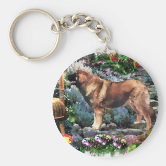 Leonberger Art Gifts Keychain