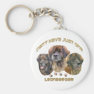"""Leonberger """"Can't Have Just One"""" Keychain"""