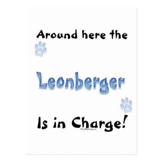 Leonberger Charge Postcard