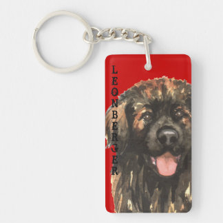 Leonberger Color Block Keychain