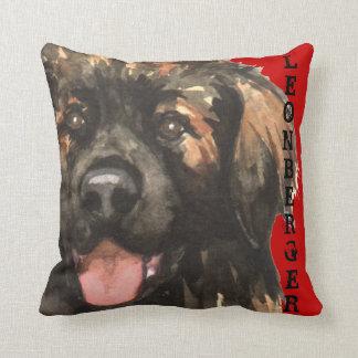 Leonberger Color Block Throw Pillow