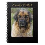 Leonberger dog beautiful photo, custom name note book