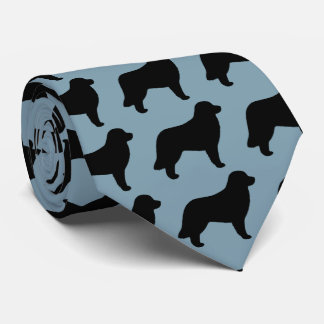 Leonberger Dog Silhouettes Pattern Tie