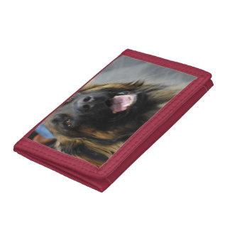 Leonberger Dog Trifold Wallets