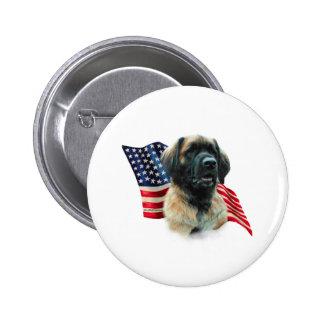 Leonberger Flag Pinback Button