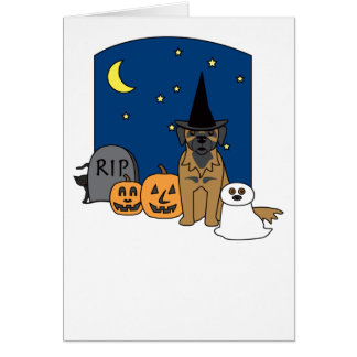 Leonberger Halloween Card
