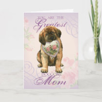 Leonberger Heart Mom Card