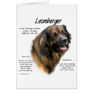 Leonberger History Design Card