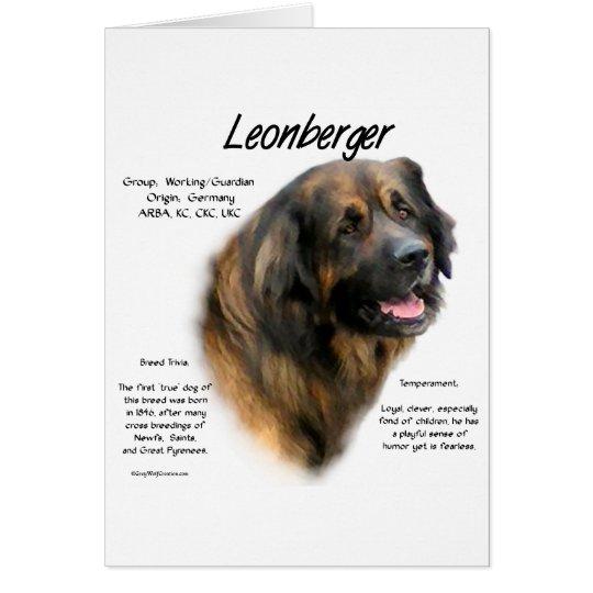 Leonberger History Design Card