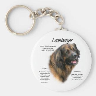 Leonberger History Design Keychain