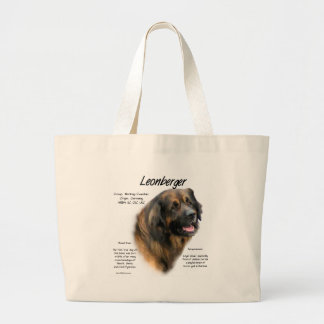 Leonberger History Design Large Tote Bag
