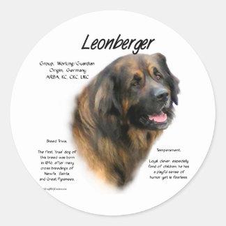 Leonberger History Design Round Sticker
