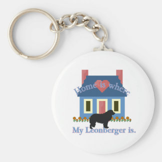 Leonberger Home Is Keychain
