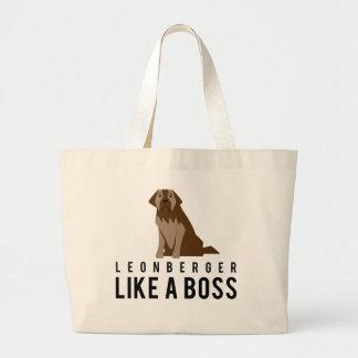 Leonberger, Like a Boss Large Tote Bag