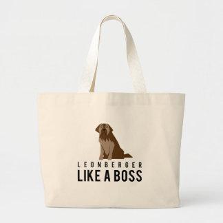 Leonberger Like a Boss Large Tote Bag