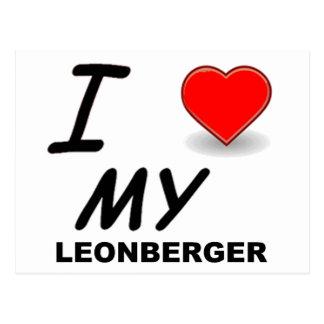 leonberger love postcard