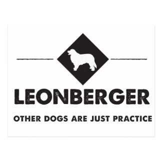 Leonberger - Other dogs are practice Postcard