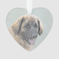 Leonberger Painting - Cute Original Dog Art