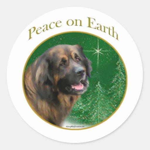 Leonberger Peace Classic Round Sticker