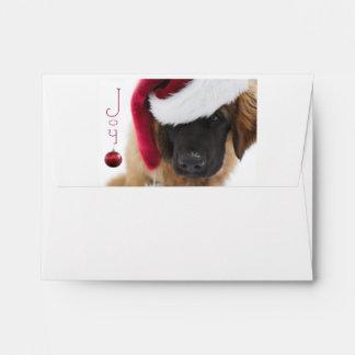 Leonberger puppy Christmas Envelope