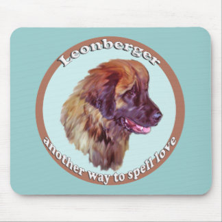 Leonberger Puppy Love Mouse Pad
