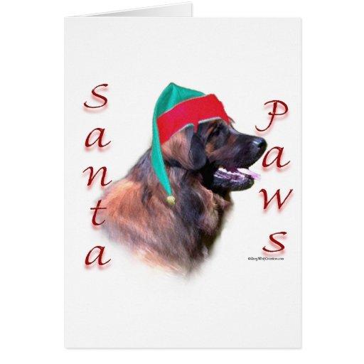Leonberger Santa Paws Greeting Card