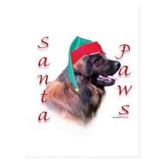 Leonberger Santa Paws Postcard