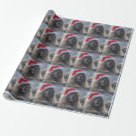 """Leonberger Santa Wrapping Paper<br><div class=""""desc"""">adorable Leonberger Santa wrapping paper</div>"""