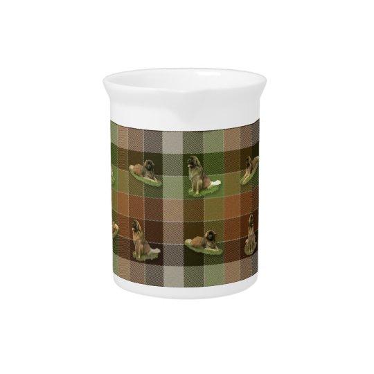 Leonberger Tartan Drink Pitcher
