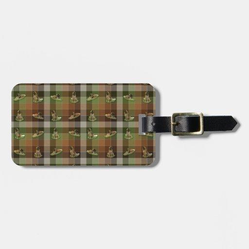 Leonberger Tartan Luggage Tag