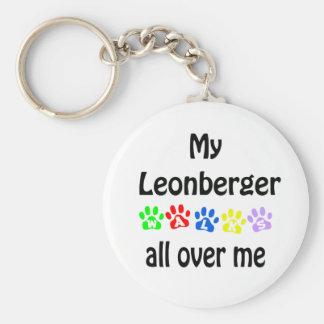 Leonberger Walks Design Keychain