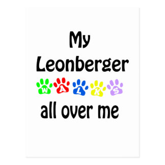 Leonberger Walks Design Postcard