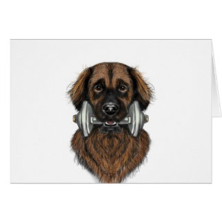 Leonberger with dumbbell card