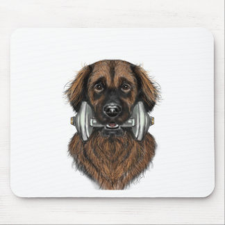 Leonberger with dumbell mouse pad