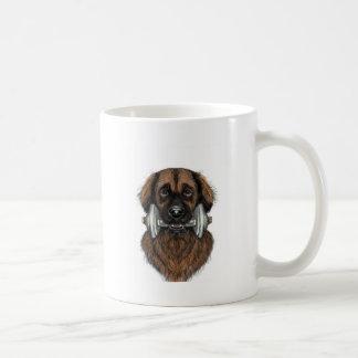 Leonberger with dumbell mug