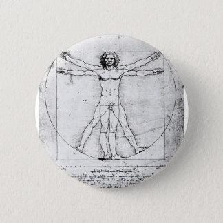 Leondardo Da Vinci Proportion Man Pinback Button