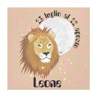 Leone 23 al 22 Stampa luglio agosto su tela Impresion De Lienzo