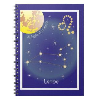 Leone 23 peeping Lio Al 22 agosto note booklet Spiral Notebooks